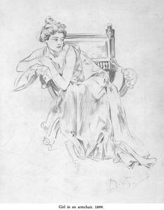 Welcome to Dover Publications   Drawings of Mucha   By: Alphonse Mucha   Girl in an Armchair