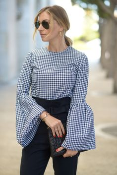 Saved by the Bell. A gingham top with a show-stopping detail.