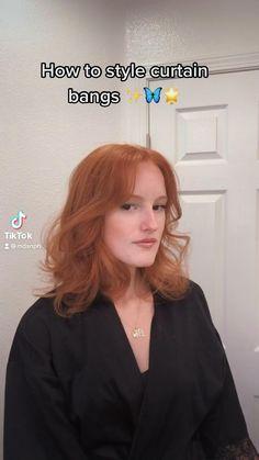 Curly Hair With Bangs, Short Hair Styles Easy, Short Hair With Bangs, Short Curly Hair, Medium Hair Styles, Curly Hair Styles, Bangs Short Hair, Hair Tips Video, Hair Videos