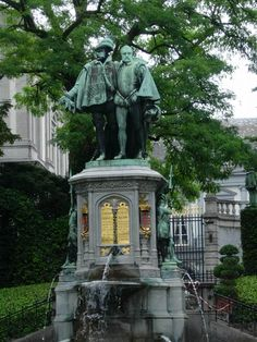 Statue of the Counts of Egmont and Hoorn at Small Sablon Square in Brussels - Belgium