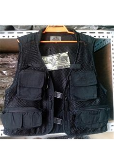 Black Fishing Vest 4 Pockets ! Buy Now at gorillasurplus.com