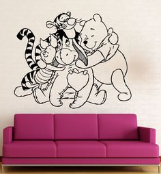 Wall Stickers Vinyl Decal Nursery Winnie The Pooh Cartoon Baby Room (ig1056) #WallStickers4Ever