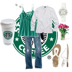 my starbucks outfit!