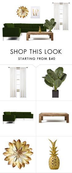 """Green day: Home Decor"" by neflaluna on Polyvore featuring interior, interiors, interior design, home, home decor, interior decorating, Royal Velvet, Joybird Furniture, Flamant and Bloomingville"