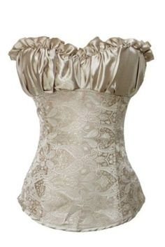 Amazon.com: Corset Buy Princess Lvory Polyester with Satin Overbust Corset: Clothing