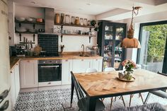 scandi boho kitchen decor