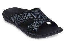 530818efbbf Spenco Men s Kholo Tribal Slide Sandals. Slide SandalsTribal WomenWomen  SlidesMeshPrintedFootwearShoesStyleQvc