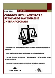 ufcd 0502. Códigos, regulamentos e standards nacionais e internacionais