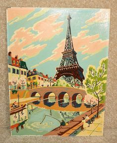 paint by number • Eiffel Tour print