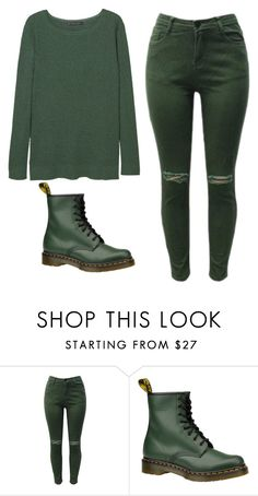 """Untitled #567"" by tumblr-outfits12 ❤ liked on Polyvore featuring Dr. Martens and MANGO"