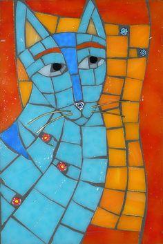 Christine Brailler's fantastic mosaic cat!