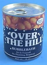 ... Over The Hill Bubble Bath OTH Party Fun Gag Joke Prank New Free S/H