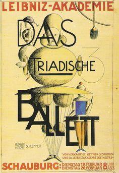 oskar schlemmer triadic ballet   ... poster advertising bauhaus artist oskar schlemmer s the triadic ballet