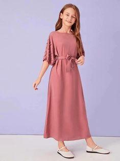 Stylish Dresses For Girls, Stylish Dress Designs, Frocks For Girls, Dresses Kids Girl, Preteen Girls Fashion, Girls Fashion Clothes, Girl Fashion, Fashion Dresses, Fashion Kids