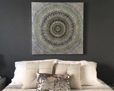 A wonderful customer, Suzanne shared this photo of her new art piece with us and we HAD to share because.well, just look at the elegance! A bedroom right out of a magazine! Home decor Interior Decorating, Decorating Ideas, Interior Design, Home Decor Store, New Art, Wall Art Decor, Unique Gifts, Art Pieces, Tapestry