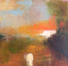 Daily painting no 48(May 2014) by Tonie Rigby,'Burnt orange space,'acrylic on board,52 cm sq.Not quite sure these colours fitted in with the others this week. Whatever did we do without pinterest ha ha