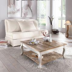 Couchtisch Country - Holz - Braun/Weiß