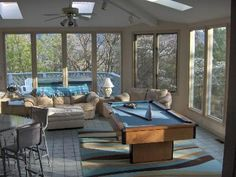 pool deck with sunroom - Google Search