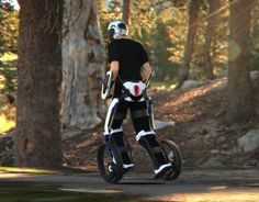 Segway-style wearable electric personal transporter