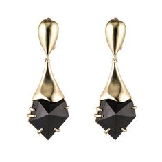 Gold Liquid Crystal Clip Earring with Pyrite Doublet Alexis Bittar