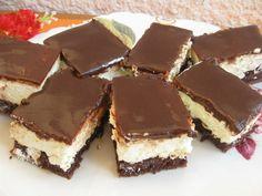 Kókuszos csokoládészelet sütés nélkül, fincsi és nagyon könnyen összedobható!