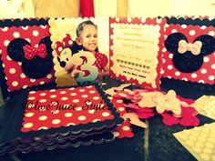 Leila's Minnie Mouse themed Birthday Invitations..... I love my Sizzix!