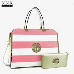 MMK collection Women Fashion Matching Satchel handbags with wallet(6900)~Designer Purse ~Multi Pocket ~ Beautiful Designer Handbag Set (02-6900 (02-168)PK/WT/GD)  BUY NOW     $249.99    *This MMK collection Briefcase with Removable Shoulder Strap is a great purse and Wristlet wallet combination. With matching  ..  http://www.welovefashion.top/2017/03/17/mmk-collection-women-fashion-matching-satchel-handbags-with-wallet6900designer-purse-multi-pocket-beautiful-designer-handbag-se..