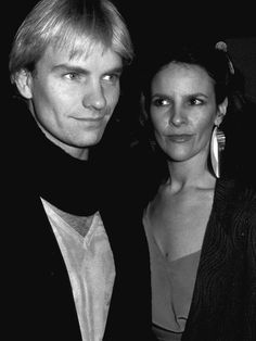 """Sting (1981) with his first wife Frances Tomelthy, who married in 1976 and were divrced in 1982. They have one son Joseph """"Jo"""" Sumner.   Quelle: http://diepresse.com"""