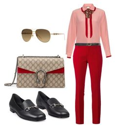 """GG Office Casual"" by kmags4 on Polyvore featuring Gucci"
