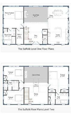 home inspiration cool two story barndominium floor plans startling rh pinterest com