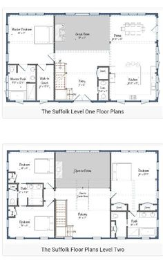 Barndominium floor plans 2 story ideas