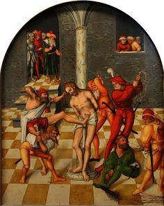 LUCAS CRANACH (1472 - 1553) | Flagellation of Christ - 1538. Kunsthistorisches Museum.