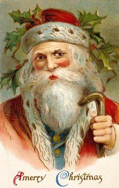 Unknown - Vintage Santa - Fine Art Print