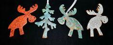 Polymer clay made ornaments for christmas Polymer Clay, Moose Art, Christmas Ornaments, Holiday Decor, Fimo, Christmas Jewelry, Christmas Decorations, Christmas Decor, Modeling Dough