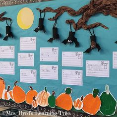 Just a little Halloween fun in my classroom.  We are learning about pumpkins and bats in #kindergarten