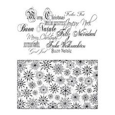 Viva Decor My Paper World Silicone Stamps - Christmas Background & Letters #10