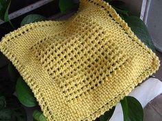 ELOOOmanator's diagonal knit dishcloth
