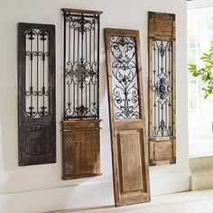 These are the wall decor gates I have - I have the 2nd, 3rd and 4th (from the left). If they'll work with the design, great, if not, don't worry or fret about it.