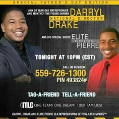 Join us Tonight... 7pm pst, 9pm cst & 10pm est  Let's chat after 858-609-9641
