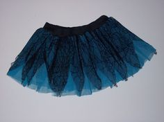 Spider point lace Blue Black Tutu Skirt For Dance by MasterMind92