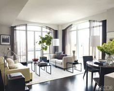 The living area of Hilary Swank's Manhattan apartment