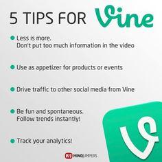 5 Tips for the newest social media tool: #Vine #SocialMedia #vine