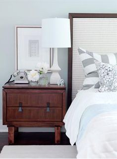 I have a thing for grey bedrooms lately...