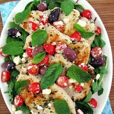 Greek Chicken with Kalamata Olives and Feta, in just 25 minutes.