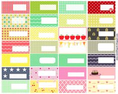 Free printable pattern tags and labels ♥ ausdruckbare Etiketten ♥ freebie | MeinLilaPark – digital freebies