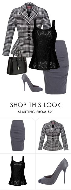 A fashion look from February 2017 featuring crochet tank, peplum blazer jacket and grey pencil skirt. Browse and shop related looks. Business Professional Outfits, Professional Dresses, Outfits 2016, Cute Outfits, Washington Dc Fashion, Look Fashion, Womens Fashion, Fall Capsule Wardrobe, Fall Outfits For Work