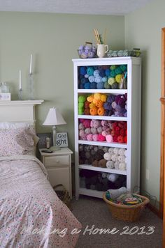 Making A Home: my yarn storage solution. Yarn as art. My personal version of heaven.
