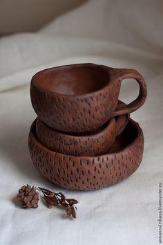 """Комплект глиняной посуды """"Кофе с печеньками"""" #ceramics"""