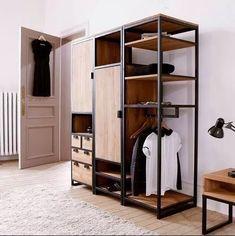 Resultado de imagen para wood and steel wardrobe ideas
