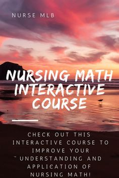Are you sick of teaching yourself math in Nursing School? Refresh on the basics of math and learn how to calculate proper medication dosages for administration to patients. Includes lessons and interactive activities to test knowledge obtained. Nursing Math, Medical Surgical Nursing, Nursing School Notes, Nursing Students, Nursing Degree, Nclex, Nursing Conversions, Nursing Information, Fundamentals Of Nursing